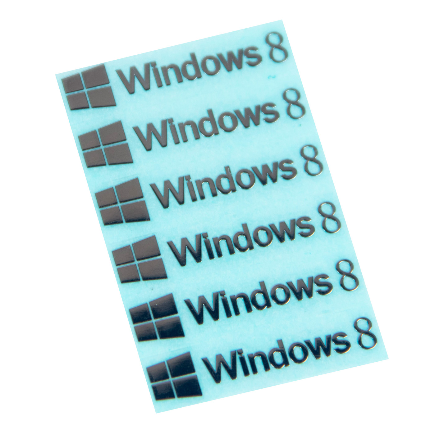 Naklejka sticker Windows 8 silver 6 x 30 mm